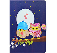 cheap -Case For Apple iPad 10.5 Card Holder with Stand Flip Pattern Auto Sleep/Wake Up Full Body Cases Owl Hard PU Leather for iPad 4/3/2 iPad
