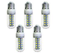 preiswerte -5 Stück 4W 350 lm E26/E27 36 Leds SMD 5730 LED-Lampe Weiß Wechselstrom 220-240V