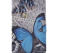 economico -Custodia Per Samsung Galaxy Tab 3 Lite Porta-carte di credito Con supporto Con chiusura magnetica Fantasia/disegno Integrale Farfalla