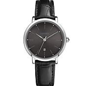 Недорогие -Жен. Повседневные часы Модные часы Наручные часы Японский Кварцевый Календарь Защита от влаги Повседневные часы Кожа Группа Мода Elegant