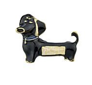 Недорогие -Жен. Собаки Броши - Простой / Классический Белый / Черный / Желтый Брошь Назначение Повседневные / Новый год