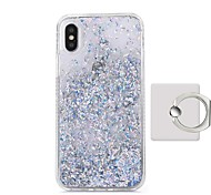cheap -Case For Apple iPhone X Flowing Liquid Ring Holder Back Cover Solid Color Hard Plastic for iPhone X