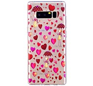 cheap -Case For Samsung Galaxy Note 8 Translucent Pattern Back Cover Heart Soft TPU for Note 8