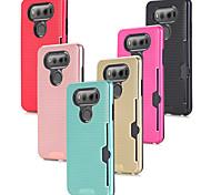 abordables -Funda Para LG V20 Soporte de Coche Antigolpes Funda Trasera Color sólido Dura ordenador personal para LG V20 LG V10