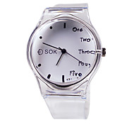 cheap -Women's Fashion Watch Japanese Casual Watch Rubber Band Elegant White