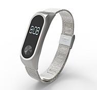 Недорогие -нержавеющая сталь наручные часы ремешок петля часы полоса для xiaomi mi band 2 группа замены для xiaomi mi band 2 -silver