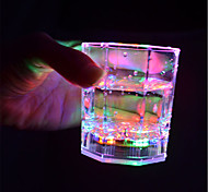 abordables -1pc Luz de noche LED Múltiples Colores Botón con pilas Wireless Color variable