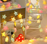 cheap -10 LEDs 1.5M String Light Warm White Multi Color Decorative USB Powered