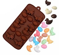 cheap -Cake Molds Rabbit Creative For Candy Cookie Cake For Cookie For Cake Silica Gel DIY Easter Creative Kitchen Gadget 3D Baking Tool