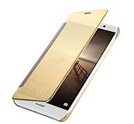 Недорогие -Кейс для Назначение Huawei Mate 9 Mate 10 Покрытие Зеркальная поверхность Флип Чехол Сплошной цвет Твердый Кожа PU для Mate 10 Mate 9