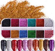 Недорогие -1pcs Гель для ногтей Порошок блеска Блеск и сияние Советы для ногтей Дизайн ногтей