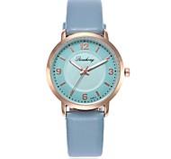 Недорогие -Жен. Кварцевый Нарядные часы Модные часы Повседневные часы Китайский Повседневные часы PU Группа На каждый день Мода Синий Зеленый Серый