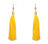 cheap -Women's Drop Earrings Crystal Tassel Ethnic Crystal Alloy Circle Line Jewelry Wine Light Blue Light Pink Dark Green Dark Navy Evening