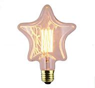 baratos -1pç 40W E26/E27 Estrela 2300 K Incandescente Vintage Edison Light Bulb AC 220V AC 220-240V V