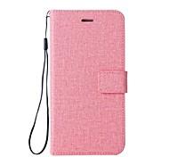 Недорогие -Кейс для Назначение HTC U11 Бумажник для карт Кошелек со стендом Флип Чехол Сплошной цвет Твердый Кожа PU для HTC U11