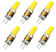 cheap -BRELONG® 6pcs 3W 800 lm G4 LED Bi-pin Lights 1 leds Warm White White