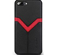 Недорогие -Кейс для Назначение Apple iPhone 8 iPhone 8 Plus Бумажник для карт Защита от удара Кейс на заднюю панель Полосы / волосы Твердый
