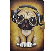 Недорогие -Кейс для Назначение SSamsung Galaxy Tab E 9.6 Tab A 10.1 (2016) Бумажник для карт со стендом Флип С узором Чехол С собакой Твердый Кожа PU