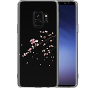 cheap -Case For Samsung Galaxy S9 S9 Plus Transparent Pattern Back Cover Flower Soft TPU for S9 Plus S9 S8 Plus S8