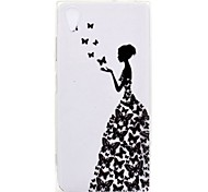 cheap -Case For Sony Xperia L2 Xperia XA2 Ultra Transparent Pattern Back Cover Sexy Lady Soft TPU for Xperia XA2 Xperia XA2 Ultra Xperia XZ1