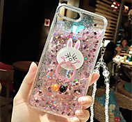 cheap -Case For Apple iPhone 6 Plus iPhone 7 Plus Flowing Liquid Pattern Back Cover Glitter Shine Soft Silicone for iPhone 8 Plus iPhone 8