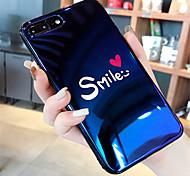 Недорогие -Кейс для Назначение Apple iPhone X / iPhone 7 Plus С узором Кейс на заднюю панель Слова / выражения Мягкий Силикон для iPhone X / iPhone 8 Pluss / iPhone 8