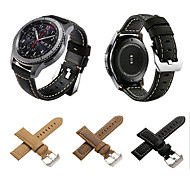 cheap -Watch Band for Gear S3 Frontier Gear S3 Classic LTE Gear S3 Classic Samsung Galaxy Classic Buckle Genuine Leather Wrist Strap
