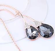 cheap -Women's Drop Rhinestone Pendant Necklace  -  Fashion European Gray Necklace For Causal