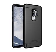 Недорогие -Кейс для Назначение SSamsung Galaxy S9 S9 Plus Бумажник для карт Защита от удара со стендом Кейс на заднюю панель Сплошной цвет Твердый ПК