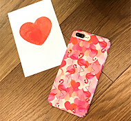 cheap -Case For Apple iPhone X iPhone 7 Plus Pattern Back Cover Flamingo Hard Acrylic for iPhone X iPhone 8 Plus iPhone 8 iPhone 7 Plus iPhone 7