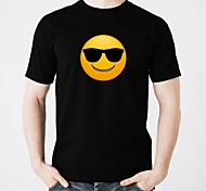cheap -LED T-shirts Glow Pure Cotton LED Casual 2×AA