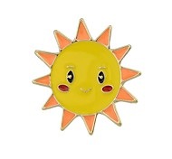 cheap -Women's Brooches , Basic Fashion Alloy Sun Clouds White Yellow Jewelry For Daily Date