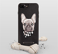 cheap -Case For Apple iPhone X iPhone 7 Plus Pattern Back Cover Dog Hard PU Leather for iPhone X iPhone 8 Plus iPhone 8 iPhone 7 Plus iPhone 7