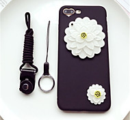 cheap -Case For Apple iPhone 6s iPhone 7 Plus Mirror Pattern Back Cover Flower Soft Silicone for iPhone 8 Plus iPhone 8 iPhone 7 Plus iPhone 7