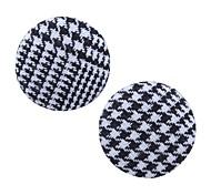 cheap -Women's Stud Earrings - Classic Vintage Elegant Coffee Black / White Dark Brown Circle Earrings For Going out Street
