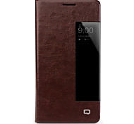cheap -Case For Huawei Mate 10 lite Mate 10 Shockproof with Windows Flip Full Body Cases Solid Color Hard Genuine Leather for Mate 10