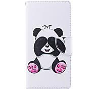 preiswerte -Hülle Für Sony Xperia L2 Xperia XA2 Ultra Kreditkartenfächer Geldbeutel mit Halterung Flipbare Hülle Muster Ganzkörper-Gehäuse Panda Hart
