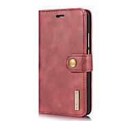 Недорогие -Кейс для Назначение Huawei Mate 9 Mate 10 Бумажник для карт со стендом Флип Чехол Сплошной цвет Твердый Настоящая кожа для Mate 10 Mate 9