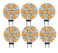 economico -SENCART 6pcs 1,5W 270 lm G4 Luci LED Bi-pin T 9 leds SMD 5050 Decorativo Bianco caldo CC 12V