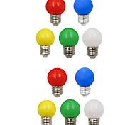 cheap -10pcs 1W 100lm E26 / E27 LED Globe Bulbs G45 8 LED Beads SMD 2835 Decorative White Green Yellow Blue Red 220-240V