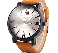 cheap -JUBAOLI Men's Quartz Casual Watch Chinese Large Dial Leather Band Cool Brown