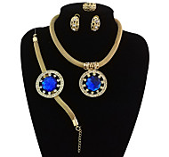 cheap -Women's Jewelry Set - Vintage, Statement, Oversized Include Bangles / Stud Earrings / Pendant Necklace Red / Green / Blue For Wedding / Party / Statement Ring