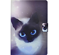 cheap -Case For Samsung Galaxy Tab E 9.6 Tab A 10.1 (2016) Card Holder with Stand Flip Pattern Full Body Cases Cat Hard PU Leather for Tab 3