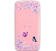 cheap -Case For Wiko U Feel Lite Robby Transparent Pattern Back Cover Butterfly Soft TPU for Wiko U Feel Lite Wiko U Feel Wiko Sunny Wiko Robby