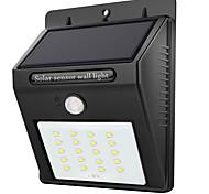 Недорогие -1шт 2 Вт. Светодиоды на солнечной батарее Инфракрасный датчик Водонепроницаемый Управление освещением Уличное освещение Белый DC3.7V