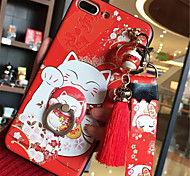 cheap -Case For Apple iPhone X iPhone 7 Plus Pattern Back Cover Cartoon Soft Silicone for iPhone X iPhone 8 Plus iPhone 8 iPhone 7 Plus iPhone 7