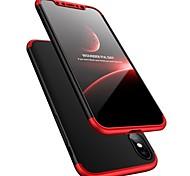 Недорогие -Кейс для Назначение Apple iPhone X Защита от удара Ультратонкий Чехол Сплошной цвет Твердый пластик для iPhone X iPhone 8 Pluss iPhone 8