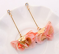 preiswerte -Damen Kronleuchter / Lang Tropfen-Ohrringe - Blumen / Botanik, Blume Europäisch, Modisch Purpur / Gelb / Rosa Für Normal / Alltag