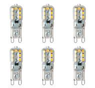 preiswerte -BRELONG® 6pcs 2W 200 lm G9 LED Doppel-Pin Leuchten 14 Leds SMD 2835 Warmes Weiß Weiß 220V-240V