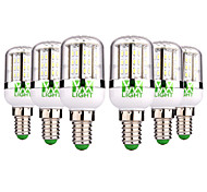 cheap -YWXLIGHT® 6pcs 5W 300-500lm E14 LED Corn Lights 48 LED Beads SMD 3014 Warm White Cold White 12-24V